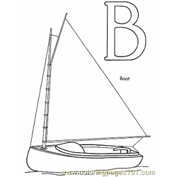 004 Boat Coloring Page Free Coloring Page for Kids