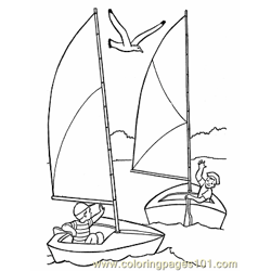 005 Sail Boat Printables Free Coloring Page for Kids