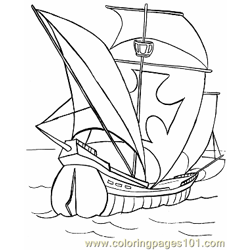 006 Boat Coloring Sheets Free Coloring Page for Kids