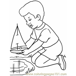 007 Toy Boats Color Page Free Coloring Page for Kids