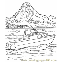 009 Power Boat Picture Free Coloring Page for Kids
