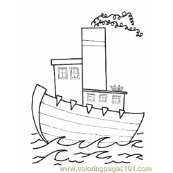 012 Kid Printable Boat Free Coloring Page for Kids