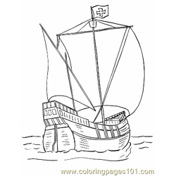 013 Pinta Coloring Page Free Coloring Page for Kids