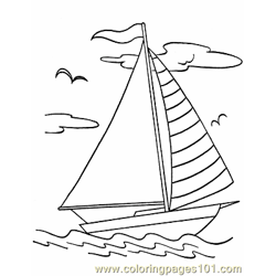 016 Boats To Print Color Free Coloring Page for Kids
