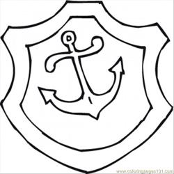 Anchor Free Coloring Page for Kids
