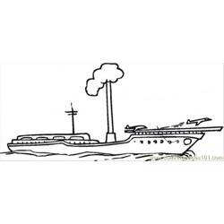 Aircraft Carier Free Coloring Page for Kids