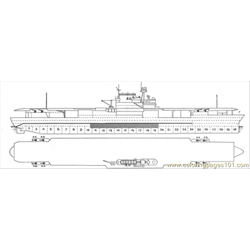Aircraft Carrier Scheme Free Coloring Page for Kids