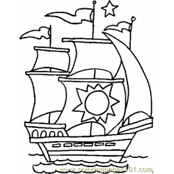 Boat Coloring Page 01 Copy