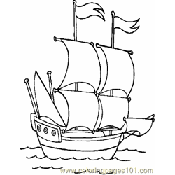 Boat Coloring Page 03 Copy