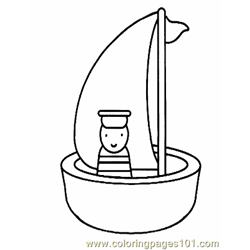 Boat Coloring Page 04