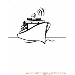 Boat Coloring Page 05