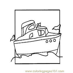 Boat Coloring Page 06 Copy