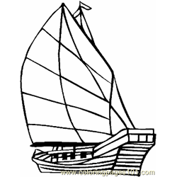 Boat Coloring Page 07 Copy