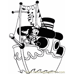Boat Coloring Page 08