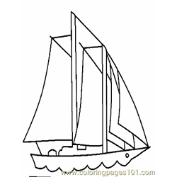 Boat Coloring Page 11 Copy