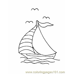 Boat Coloring Page 13 Free Coloring Page for Kids