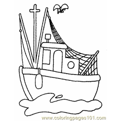 Boat Coloring Page 14 Copy Free Coloring Page for Kids