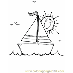 Boat Coloring Page 16 Copy Free Coloring Page for Kids
