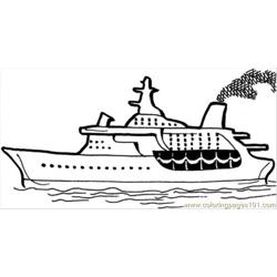Cruise On The Sea Free Coloring Page for Kids