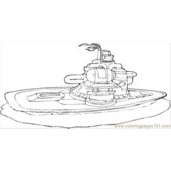 Futuristic Submarine Free Coloring Page for Kids