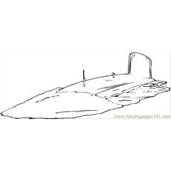 Navy Submarine Free Coloring Page for Kids