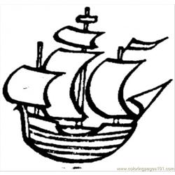 Old Little Ship Free Coloring Page for Kids