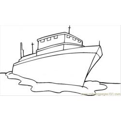 Ship Free Coloring Page for Kids