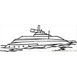 Submarina Free Coloring Page for Kids