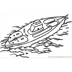 Submarine Above Water Free Coloring Page for Kids