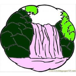 Ittle Waterfall coloring page