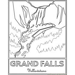 Grand Falls Yellowstones coloring page
