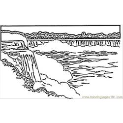 Niagara Waterfall Free Coloring Page for Kids