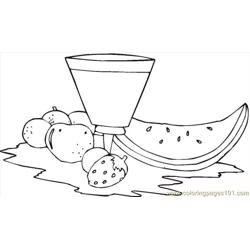 Watermelon 121 coloring page