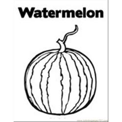 Watermelon12 coloring page