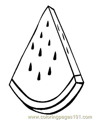 Watermelon 3 coloring page