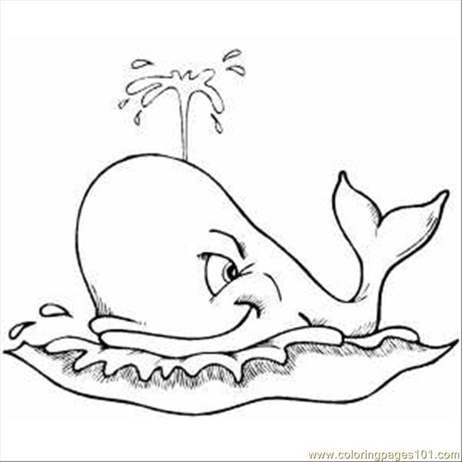 Whale Coloring Pages Pdf : Spouting whale coloring page free pages