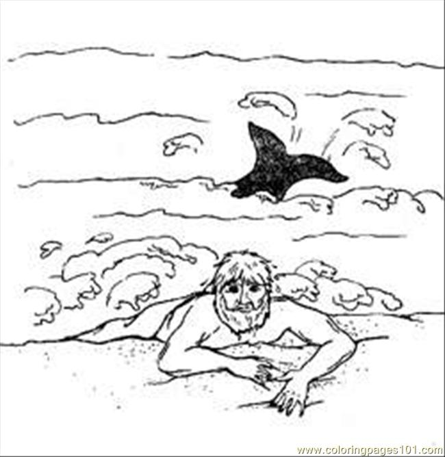 Coloringpages Jonah Whale Coloring Page