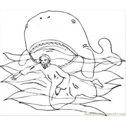 Near The Whale Coloring Page