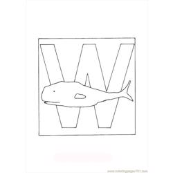 Oloring Animal Letter W Whale