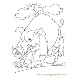 Wild Boar Coloring Page3 coloring page