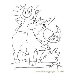 Wild Boar Coloring Page4 coloring page