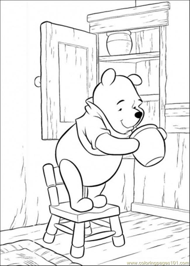 looking for honey coloring page  free winnie the pooh