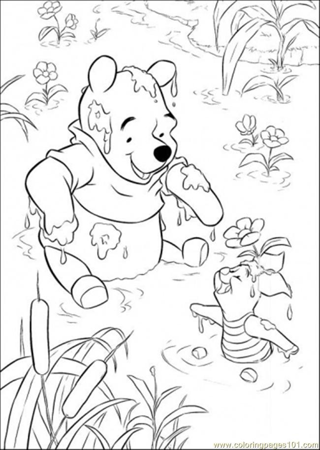 Playing In Lake Coloring Page