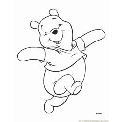 Winnie Pooh Free Coloring Page for Kids