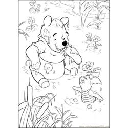 Playing In Lake Free Coloring Page for Kids