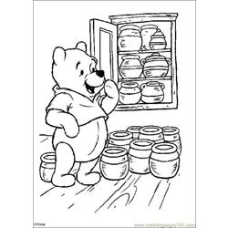 Winnie 03 Free Coloring Page for Kids