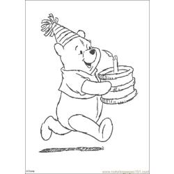 Winnie 04 Free Coloring Page for Kids