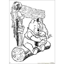 Winnie 09 Free Coloring Page for Kids