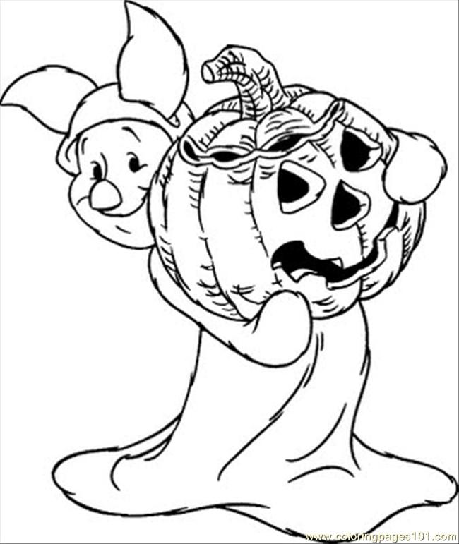 Alloween Piglet Coloring Page Coloring Page Free Winter Sports