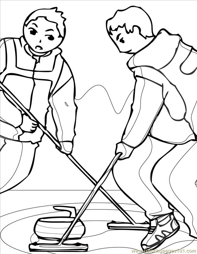 Curling Ink Coloring Page